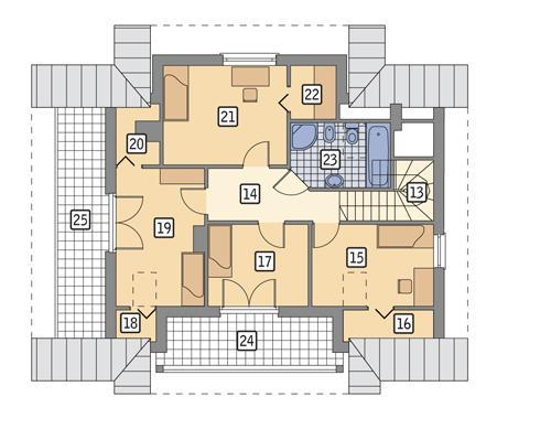 Rzut poddasza POW. 97,8 m²