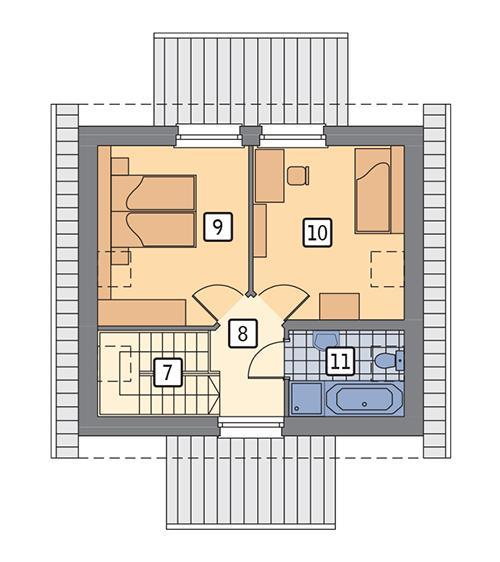 Rzut poddasza POW. 40,8 m²
