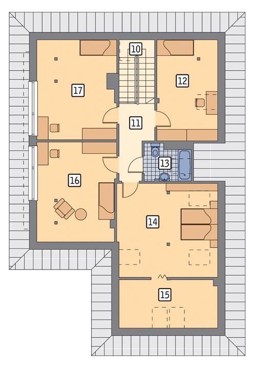 Rzut poddasza POW. 113,0 m²