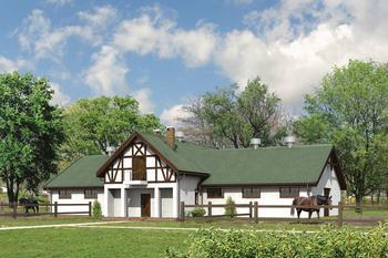 Stajnia dla 13 koni z poddaszem gospodarczym