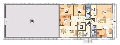 Rzut poddasza POW. 417,0 m²